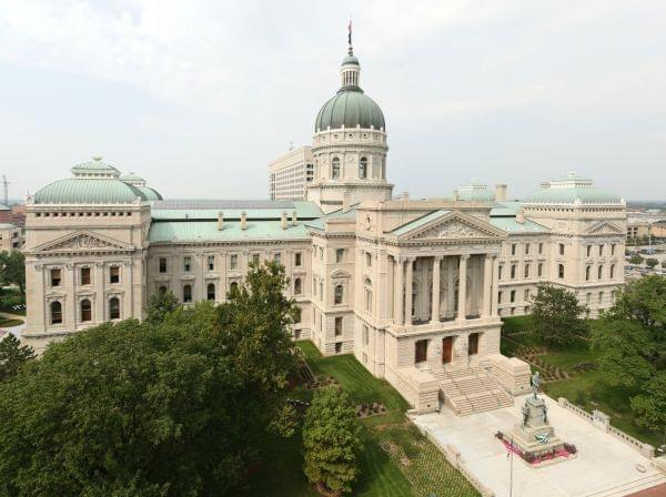 The Indiana Capitol building in Indianapolis.