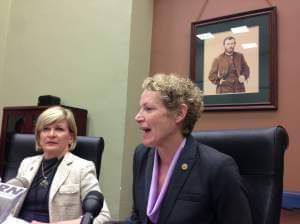 Darlene Senger and Elaine Nekritz discuss pensions