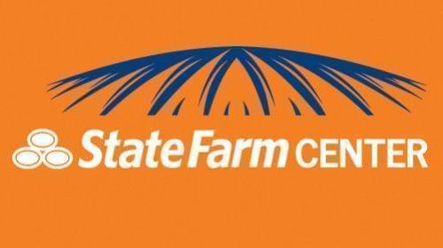 The logo of the State Farm Center.