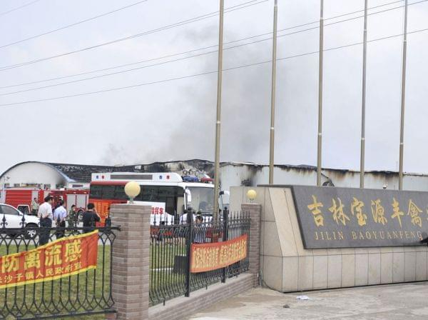 China poultry farm fire
