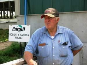 Hog farmer Bob Young