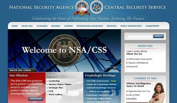 The National Security Agency's website