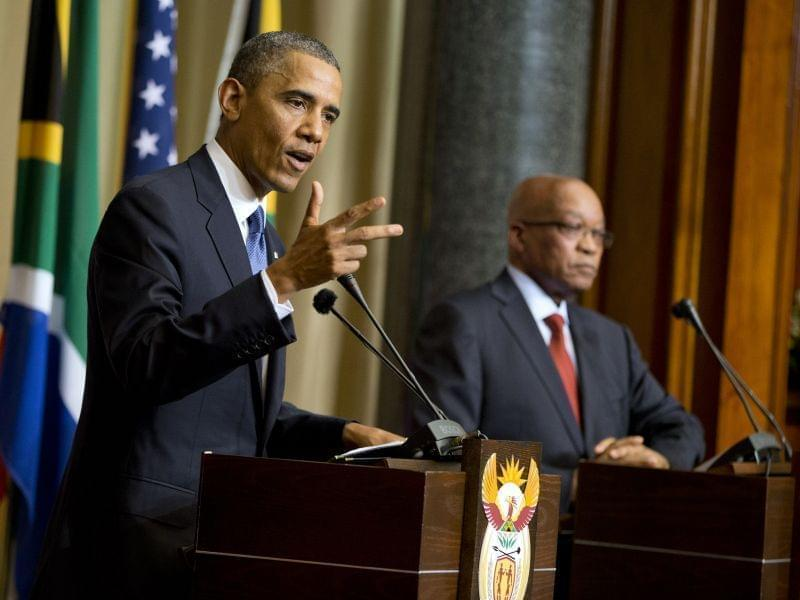 U.S. President Barack Obama and South African President Jacob Zuma
