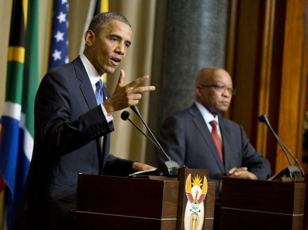 U.S. President Barack Obama and South African President Jacob Zuma