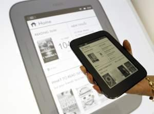 The Barnes & Noble's Nook Simple Touch can load books from other book stores, like Google.