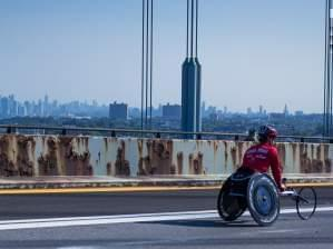 Ryan Chalmers pushes into New York City on the last leg of his Push Across America.