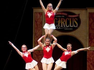 Gamma Phi Circus performers