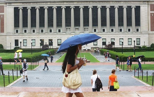 college campus at Columbia University