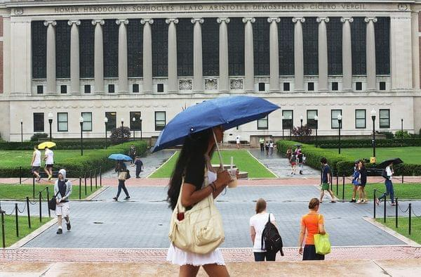 college campus at Columbia University