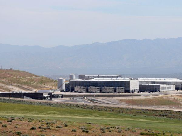 A new National Security Agency (NSA) data center in Bluffdale, Utah. The center, a large data farm, is set to open in the fall of 2013.
