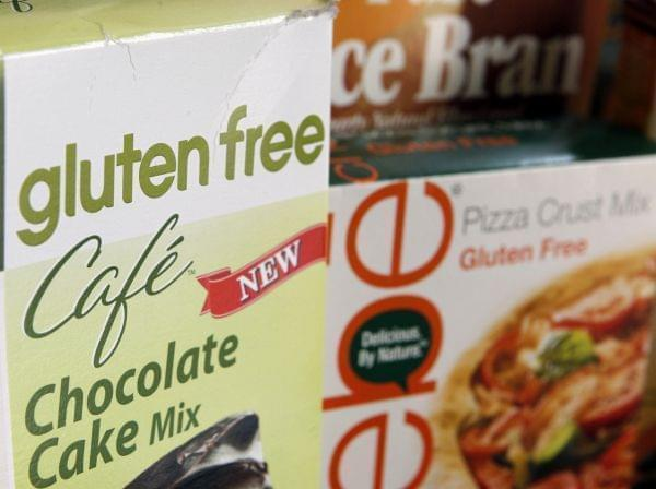 "Many products are labeled ""gluten free"" on the outside of packages."