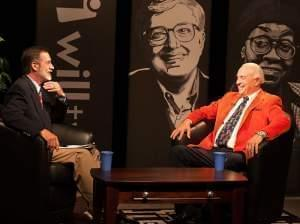 Host David Inge with Lou Henson