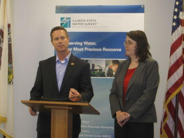 Cong. Rodney Davis and Beth Hall of the MRCC