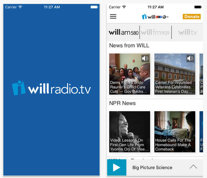 WILL Radio/TV iOS App