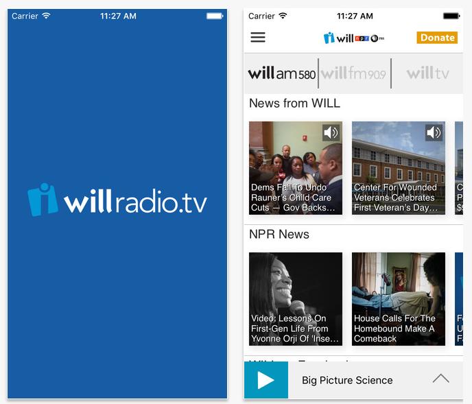 WILL Radio/TV iOS App
