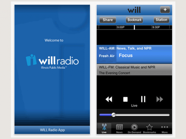 WILL Radio phone app