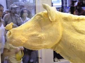 butter cow at illinois state fair