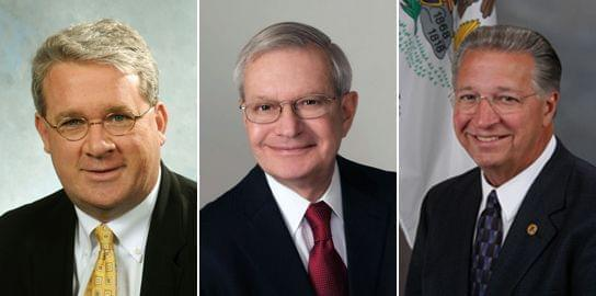 Reps. Jim Durkin, Dwight Kay, and Raymond Poe are seeking the position of House Republican leader.