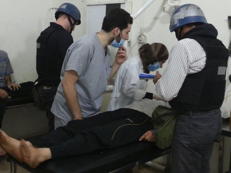 U.N. chemical weapons experts on Monday visited people hospitalized by an apparent gas attack last week in suburban Damascus. Although residents of the capital city have grown accustomed to war over the past two years, they say they are concerned abo