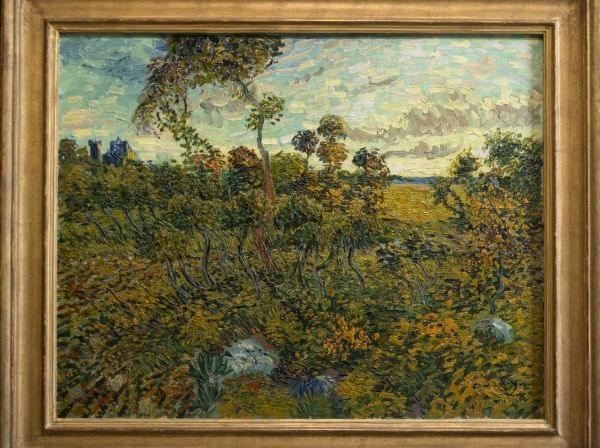 """""""Sunset at Montmajour"""" by Dutch painter Vincent van Gogh is seen during a press conference at the Van Gogh Museum in Amsterdam, Netherlands, Monday Sept. 9, 2013."""