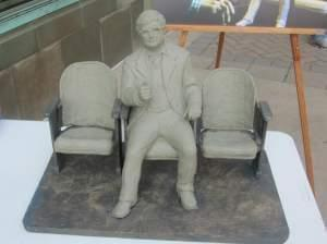 Roger Ebert sculpture, miniature version