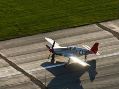 the restored Mustang fighter plane