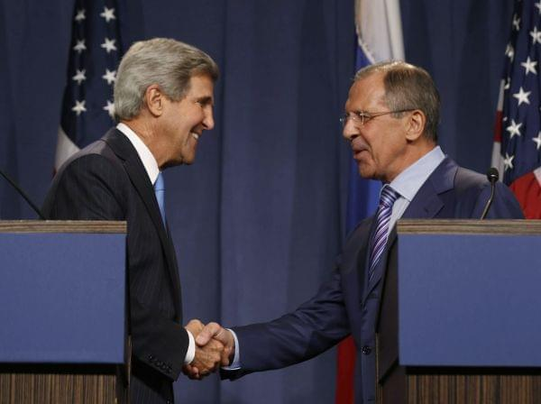 U.S. Secretary State John Kerry and Russian Foreign Minister Sergey Lavrov