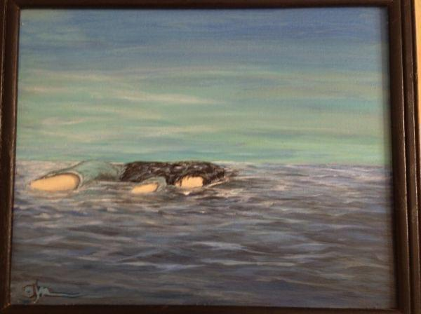 A painting by a survivor of rape is on display at the indi go Artist Co-Op in Champaign.