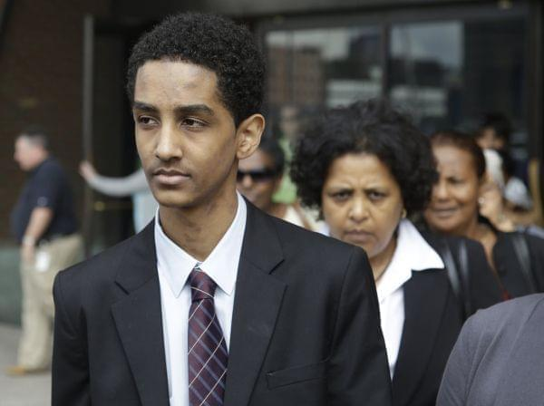 Robel Phillipos leaves federal court on Friday in Boston after he was arraigned on charges of hindering the investigation of Boston Marathon bombing suspect Dzhokhar Tsarnaev.