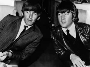 George Harrison and John Lennon,