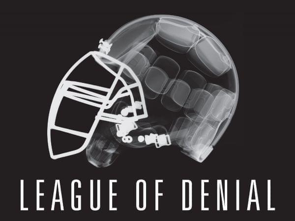 Image of a football helmet in x-ray for Frontline program: League of Denial