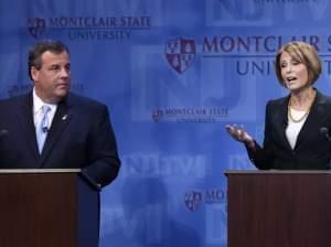Gov. Chris Christie and Democratic challenger Barbara Buono