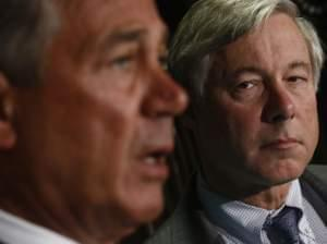 The House votes Friday on a bill submitted by GOP Rep. Fred Upton of Michigan, shown with Speaker John Boehner, that seeks to ensure Americans can keep their existing insurance plans even if those policies don't meet standards in the Affordable