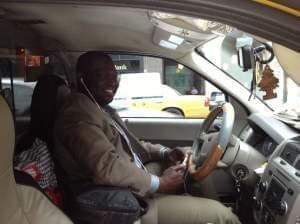 Boubacar Sanogo from Mali drives a cab in New York City and listens to ZenoRadio on his smartphone — though it can also be accessed using a more basic model.