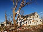 Damage from a tornado that struck Gifford, Ill. on Sunday, Nov. 17, 2013.