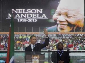 Barack Obama at  Nelson Mandela memorial