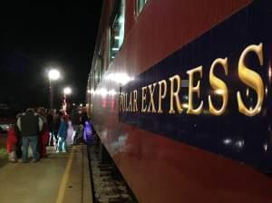 Families board the Polar Express on Dec. 6, 2013 in Monticello, Ill.