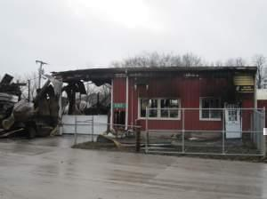 Mack's Twin City Recycling fire