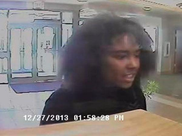 Surveillance footage of a suspect of a bank hold up on Friday, Dec. 27, 2013 at Heartland Bank on Philo Road in Urbana.