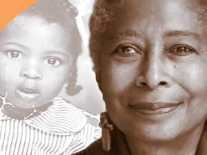 Photo of Alice Walker as a child and present.