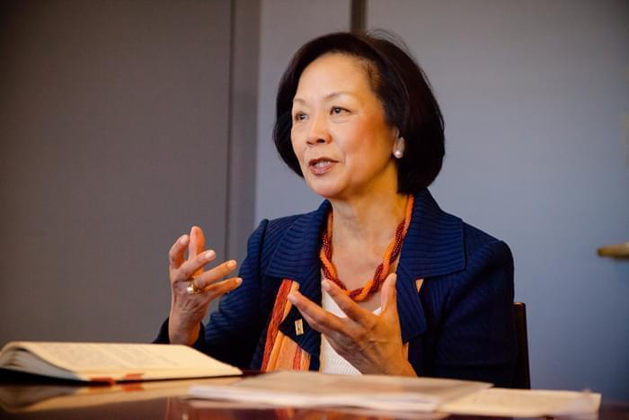 Phyllis Wise, the chancellor of the University of Illinois at Urbana-Champaign.