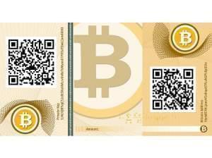 a bitcoin banknote