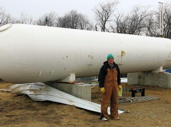 Phil Borgic, propane tank