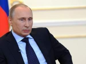 Russian President Vladimir Putin during his news conference Tuesday, March 4, 2014.
