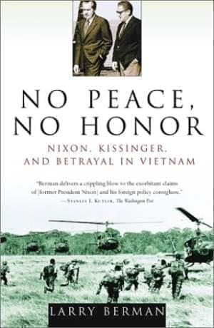 No Peace No Honor book cover