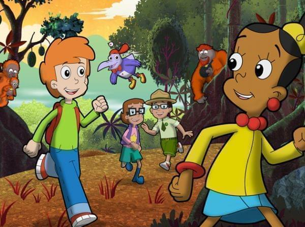 Cyberchase characters in the woods