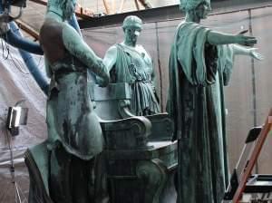 Alma Mater Statue work