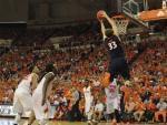 John Ekey goes for the slam dunk