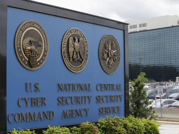 The sign outside the National Security Agency campus in Fort Meade, Md.