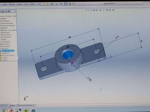 The design of the tattoo tool, which got attached to the printer.